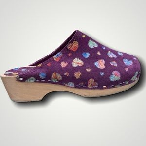 Nordstrom European Collection Purple Clogs